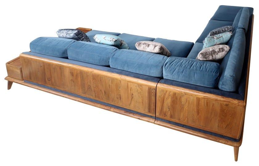 Corner fabric sofa MYSIG | Corner sofa by ALANKARAM
