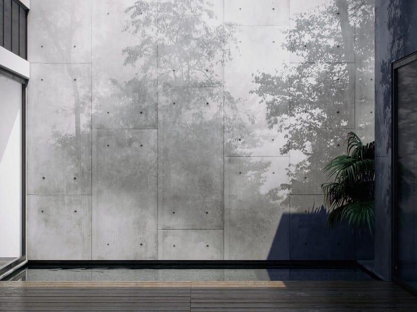 Papel pintado lavable de vinilo efecto muro de flores mystic colecci n shadow by glamora - Papel pintado lavable ...