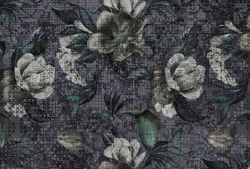 Digital printing wallpaper with floral pattern MYSTIQUE by Architects Paper