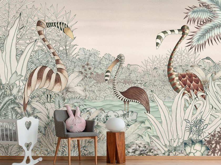 For all ages wallpaper, PVC free, eco, washable MYSTIQUE by Wallpepper