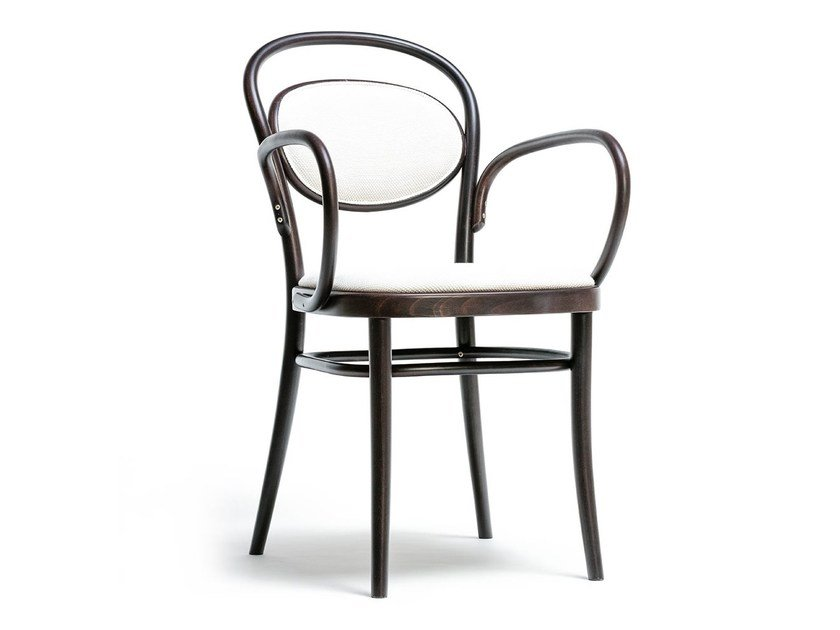 Wooden chair N° 20   Chair with armrests by TON