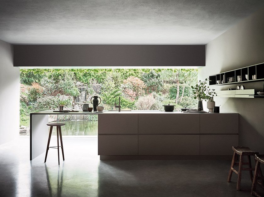 Kitchen with peninsula N_ELLE - OUTSTANDING LIGHTNESS by Cesar Arredamenti