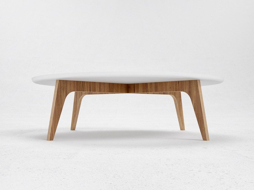 Low round coffee table N1 by ODESD2