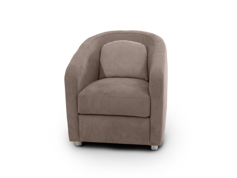 Nabuk easy chair with armrests CAROLINA | Nabuk easy chair by Nieri
