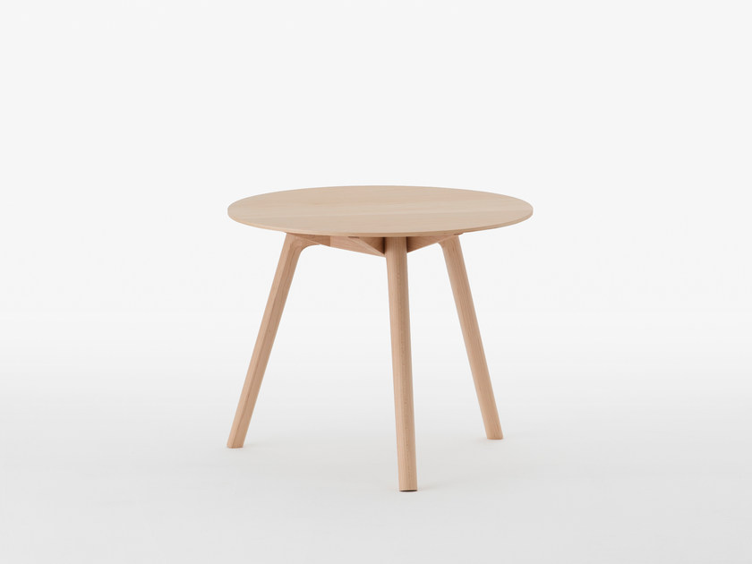 Round maple side table NADIA | Maple coffee table by MEETEE