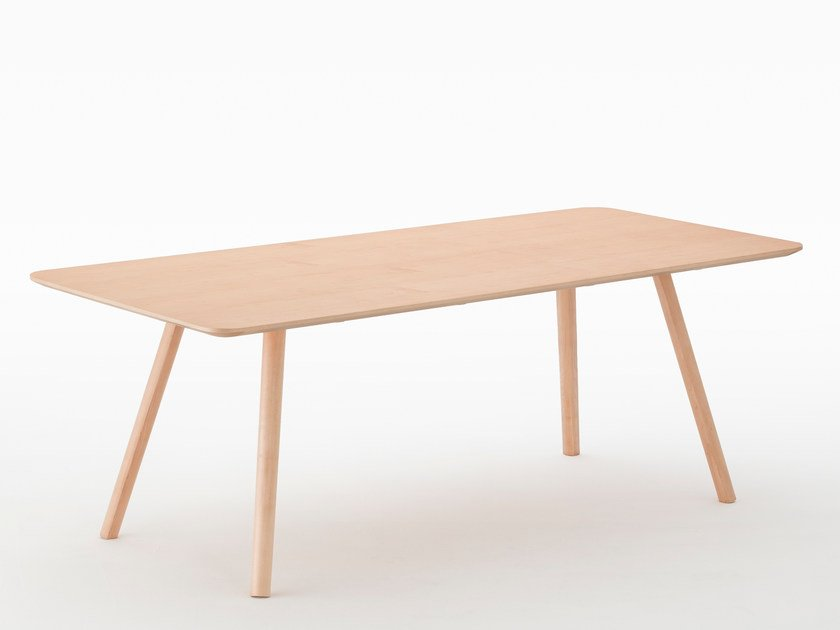 Rectangular maple dining table NADIA | Maple table by MEETEE