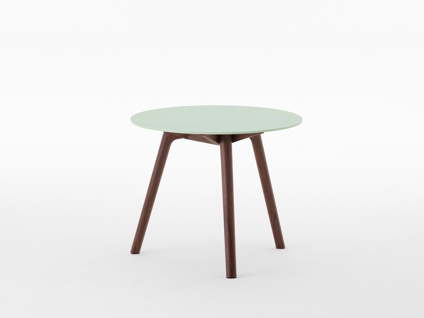Lacquered round side table NADIA | Side table by MEETEE