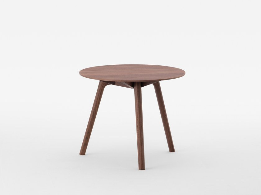 Round walnut side table NADIA | Walnut coffee table by MEETEE