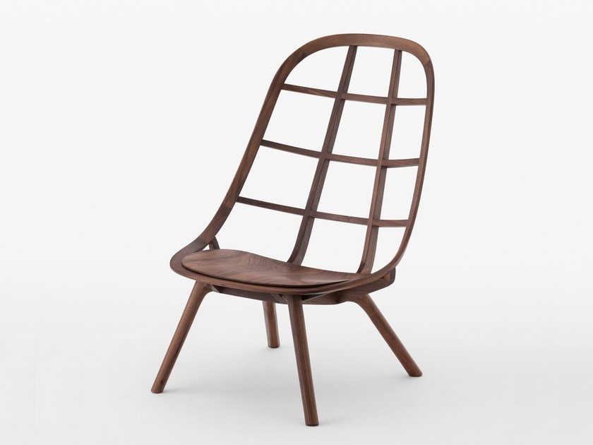 Walnut easy chair NADIA | Walnut easy chair by MEETEE