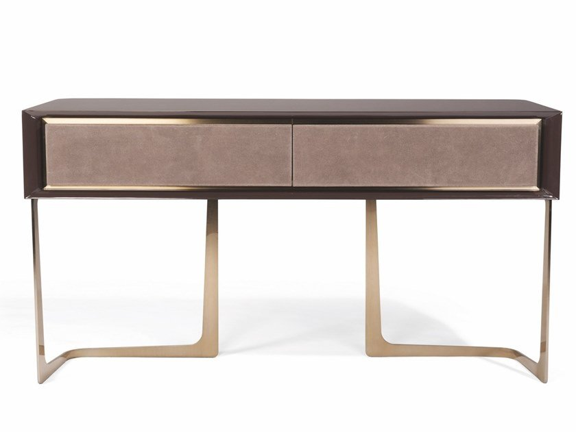 Lacquered rectangular wooden console table with drawers NADIR | Console table by Visionnaire