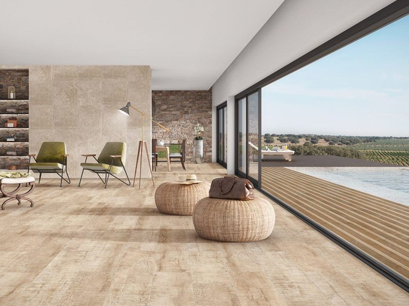 Porcelain stoneware wall/floor tiles with wood effect NAIF by Revigrés