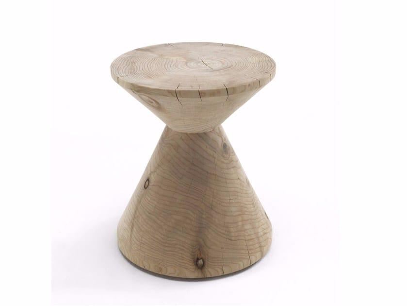 Cedarwood stool NAIF by Riva 1920