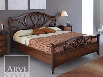Solid wood double bed NAIMA | Double bed by Arvestyle