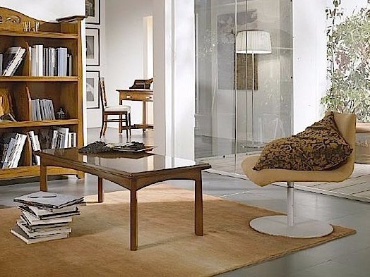 Rectangular solid wood coffee table NAIMA | Solid wood coffee table by Arvestyle