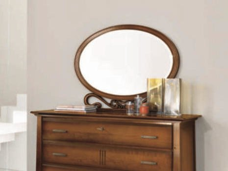 Oval framed mirror NAIMA | Mirror by Arvestyle