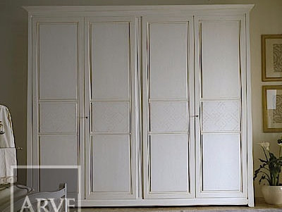 Lacquered solid wood wardrobe NAIMA | Solid wood wardrobe by Arvestyle