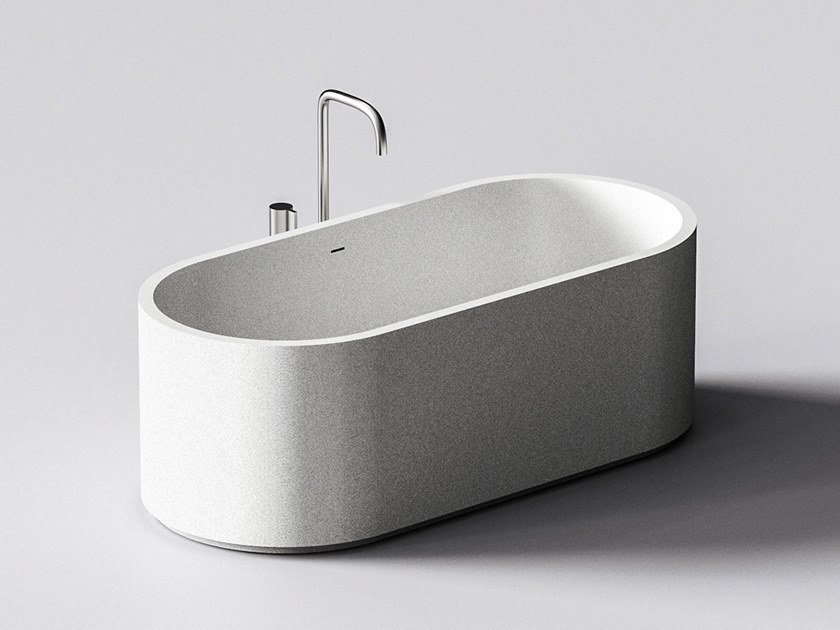 Quartz sand bathtub NAIS by Sandhelden