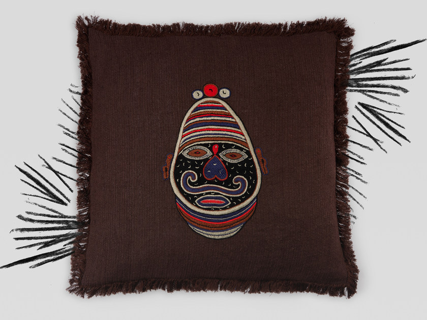 Hand embroidered cushion NAMBI by Jupe by Jackie