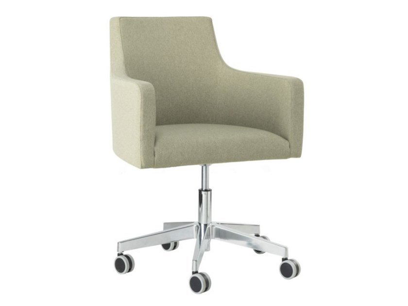 Fabric task chair with metal base with armrests NANCY PO01 BASE 23 by New Life