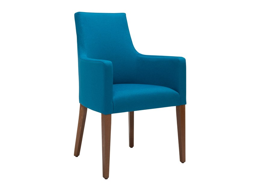 Upholstered fabric chair with armrests NANCY QUEEN PO03 by New Life