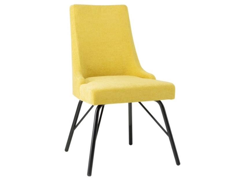 Upholstered fabric chair with metal base NANCY SE01 BASE 21 by New Life