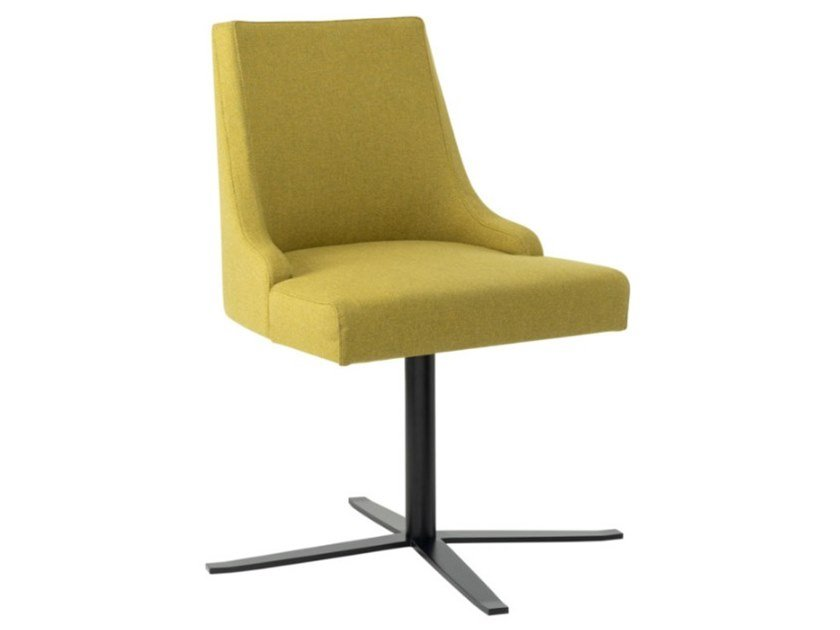 Swivel fabric chair with 4-spoke and metal base NANCY SE01 BASE 24 by New Life