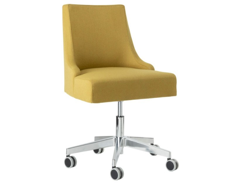 Swivel fabric task chair with aluminium base NANCY SE01 BASE 23 by New Life