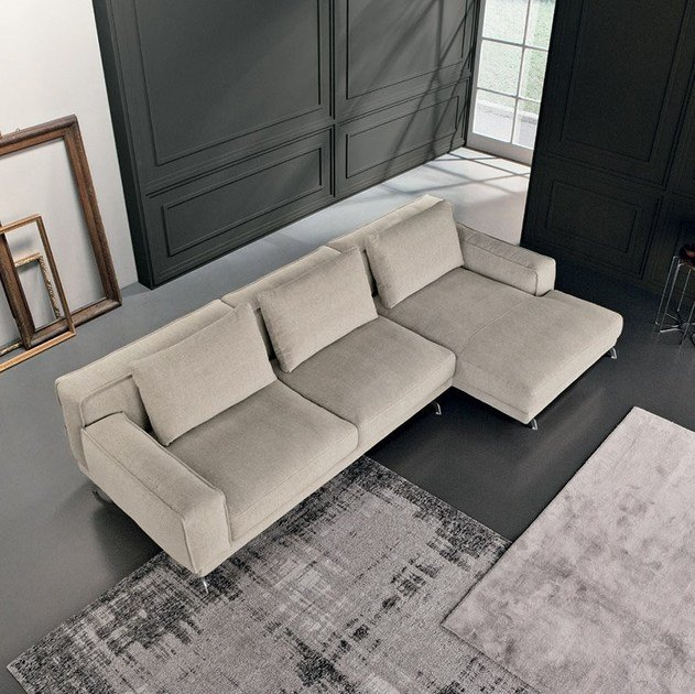 NANDO | Sofa with chaise longue Nando Collection By Max Divani