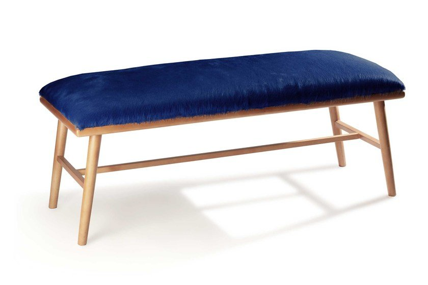 Upholstered leather bench NANO | Bench by Mambo Unlimited Ideas
