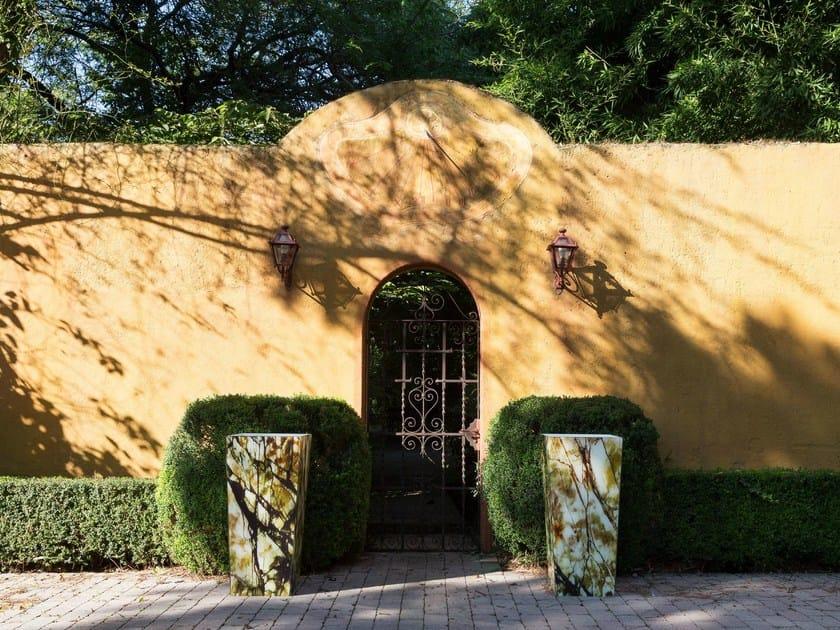 High glass garden vase with Light NAOS | Tempered glass garden vase by Samuele Mazza by DFN