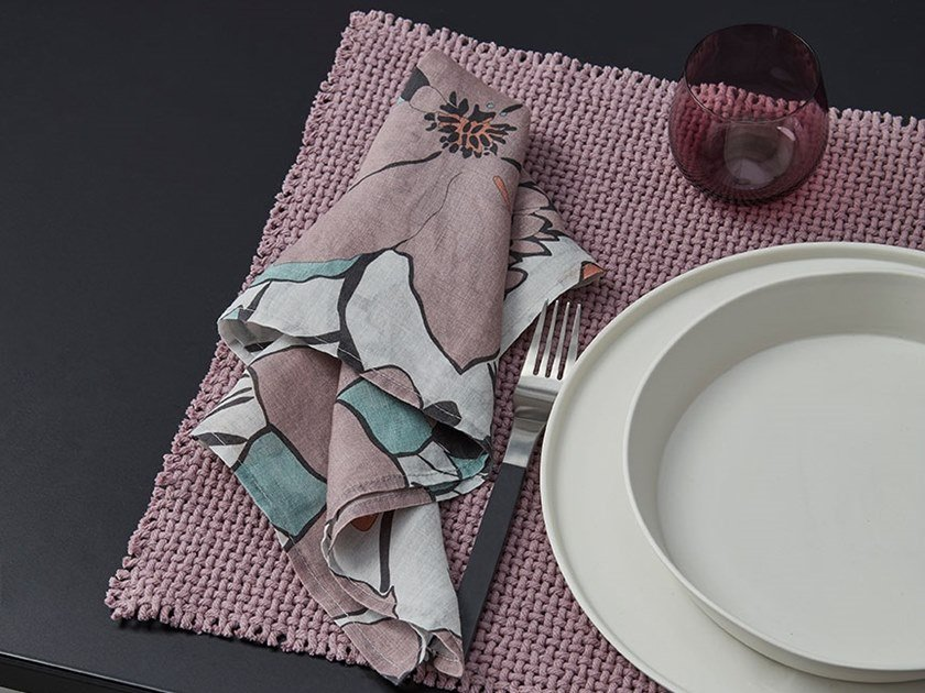 Cotton napkin NAP DAHL | Napkin by Society Limonta