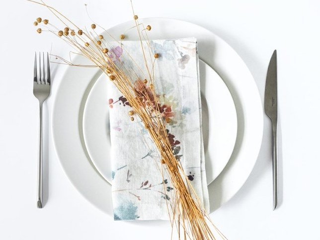Linen napkin WATERCOLOR | Napkin by Linen Tales
