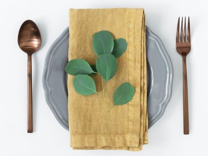 Linen napkin HONEY | Napkin by Linen Tales