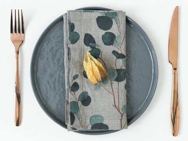 Linen napkin EUCALYPTUS | Napkin by Linen Tales