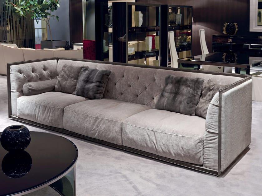 Tufted 3 seater fabric sofa NAPOLEON | Sofa by Longhi