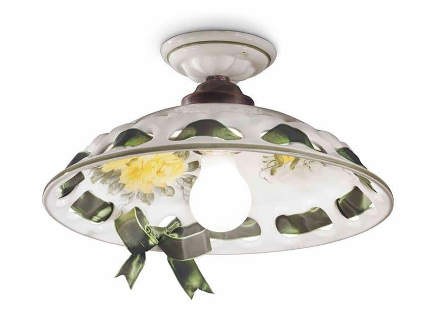 Ceramic ceiling light NAPOLI | Ceiling light by FERROLUCE