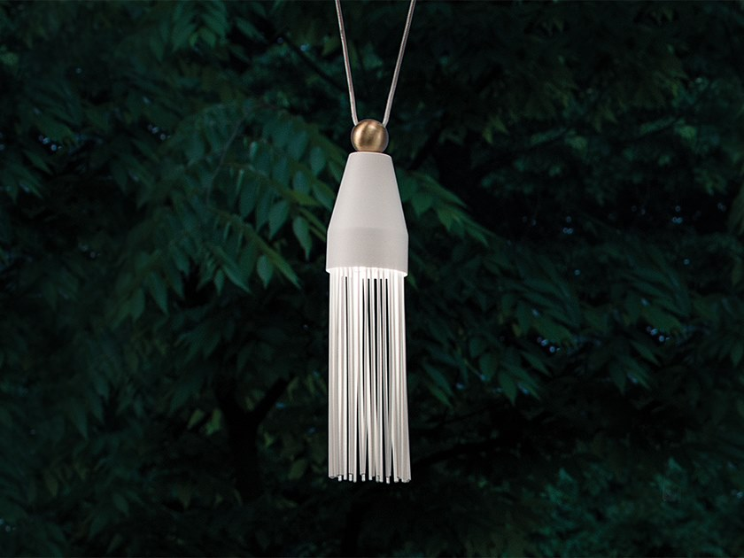 LED painted metal pendant lamp NAPPE N3 by Masiero