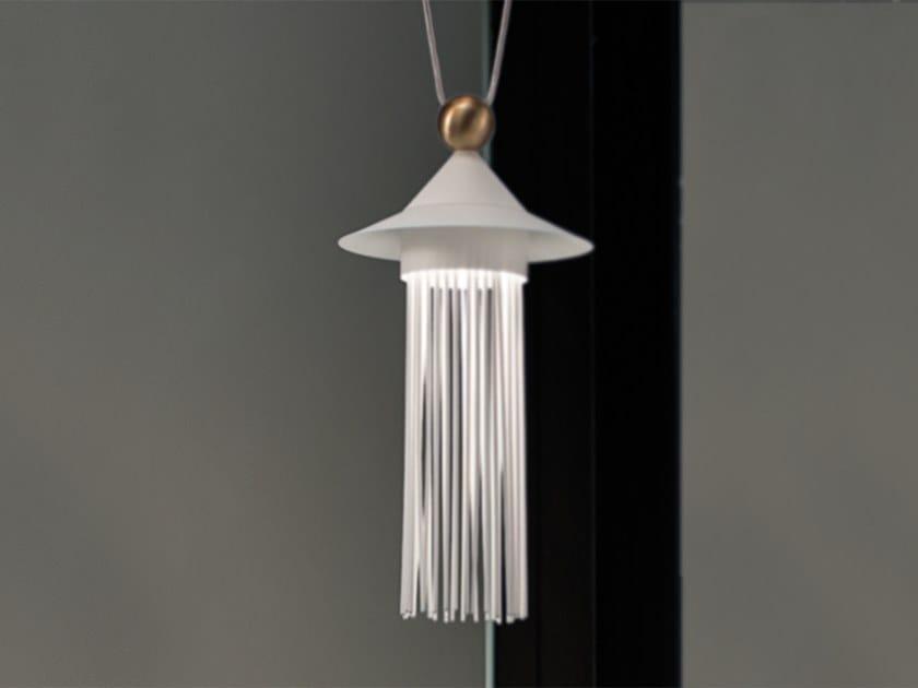 LED painted metal pendant lamp NAPPE N6 by Masiero
