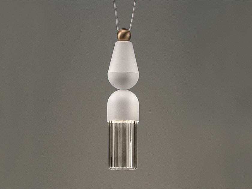 LED painted metal pendant lamp NAPPE N7 by Masiero