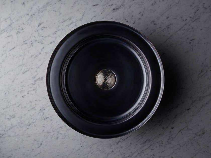 Inset round stainless steel washbasin NARCIS BLACK   Round washbasin by BASSINES