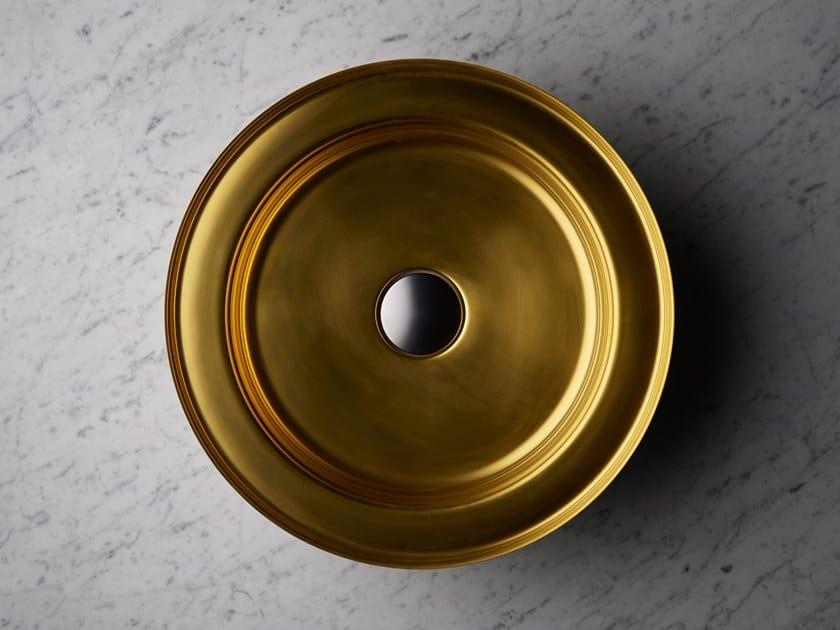 Round single stainless steel washbasin NARCIS BRASS | Round washbasin by BASSINES