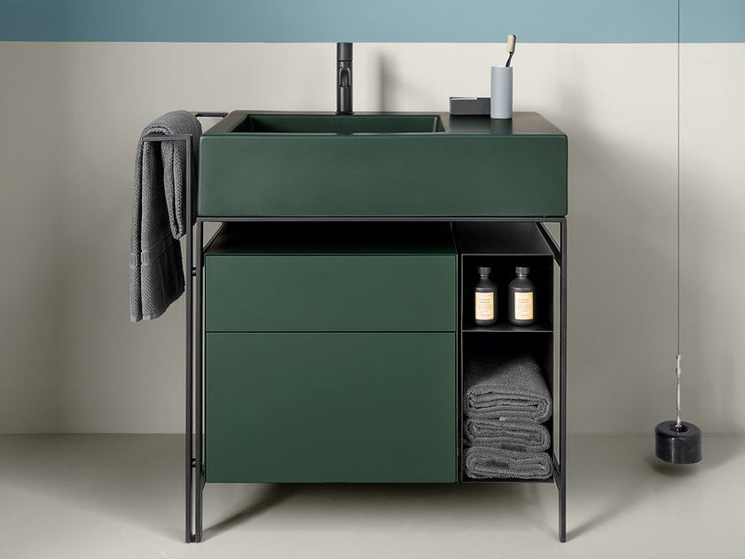 Floor-standing vanity unit with drawers NARCISO MINI by Ceramica Cielo