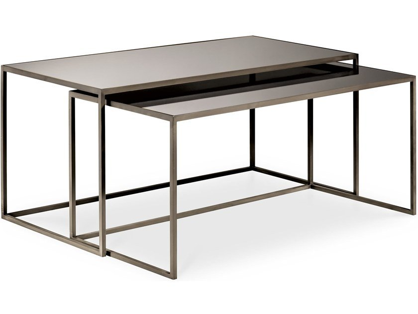 Stackable rectangular iron coffee table NARCISO | Stackable coffee table by Cantori