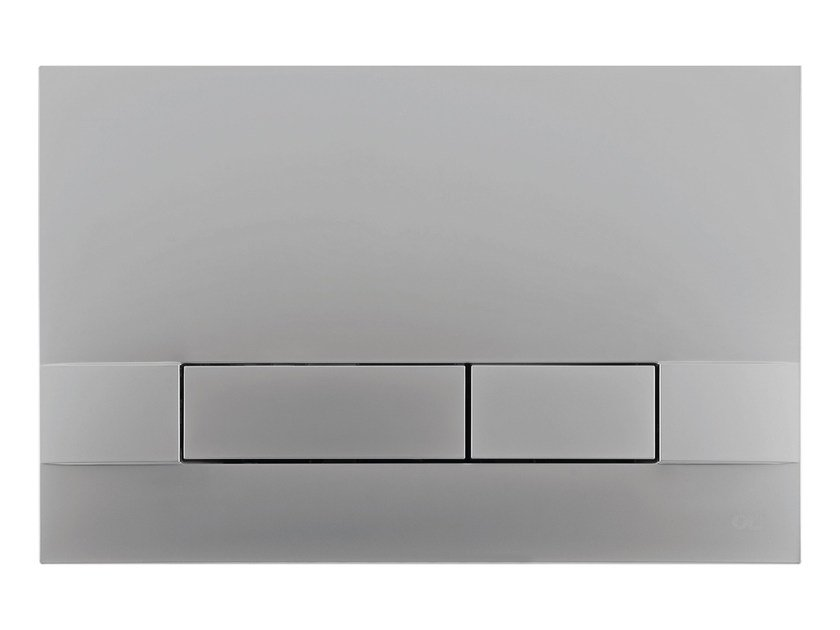 Brushed steel flush plate NARROW | Brushed steel flush plate by OLI
