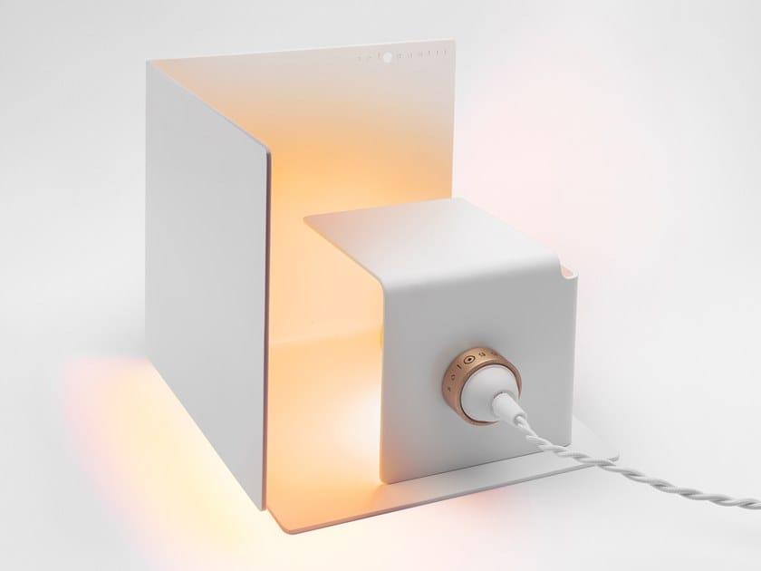 LED adjustable aluminium table lamp NASCONDINO - MATT WHITE by Sologgetti
