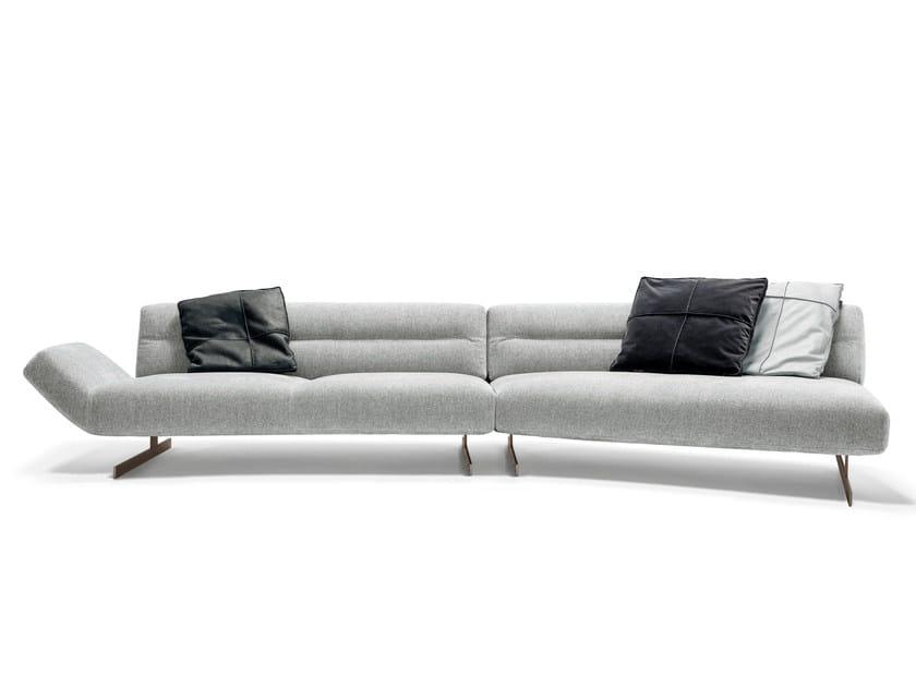 Sled base fabric sofa NASH by Arketipo