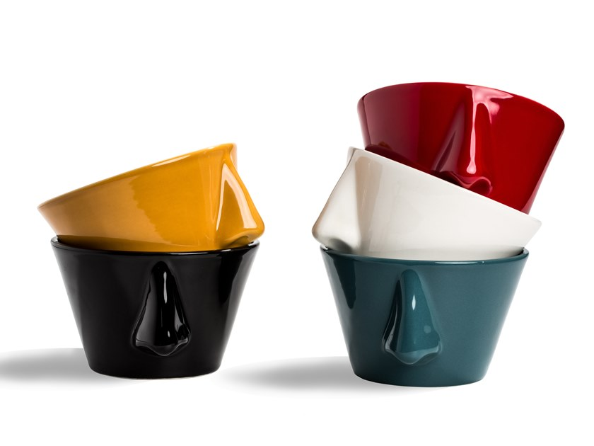 Earthenware  serving bowl / planter NASO 1.0 by Dedal