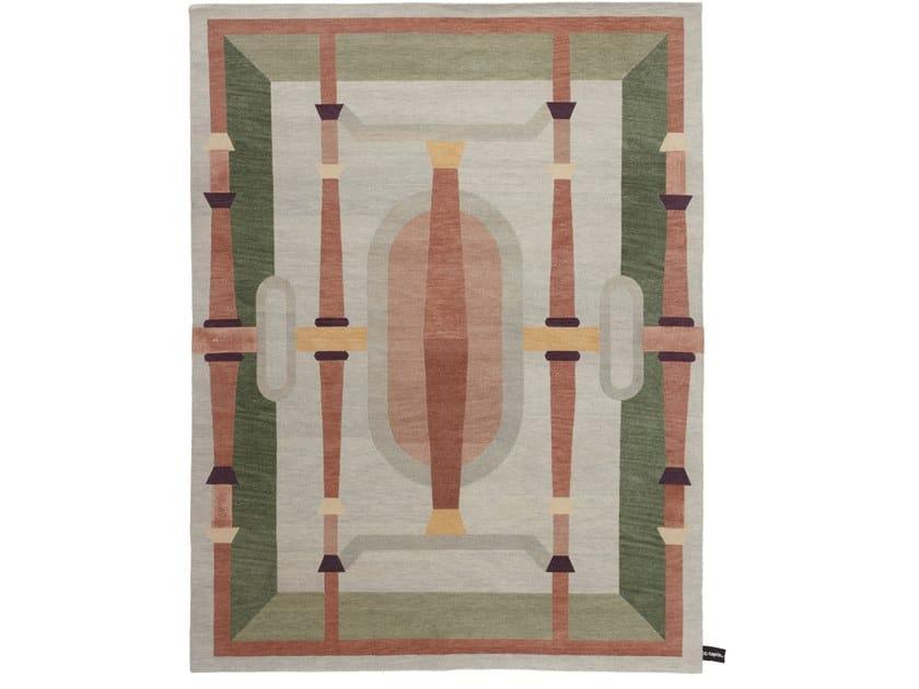 Handmade rectangular rug NASTAGIO by cc-tapis