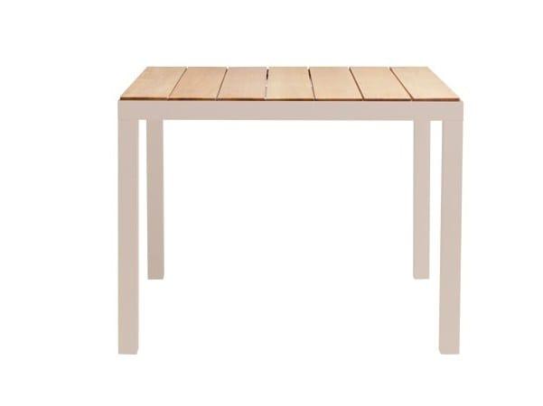 Square teak garden table NATAL ALU | Square table by TRIBÙ