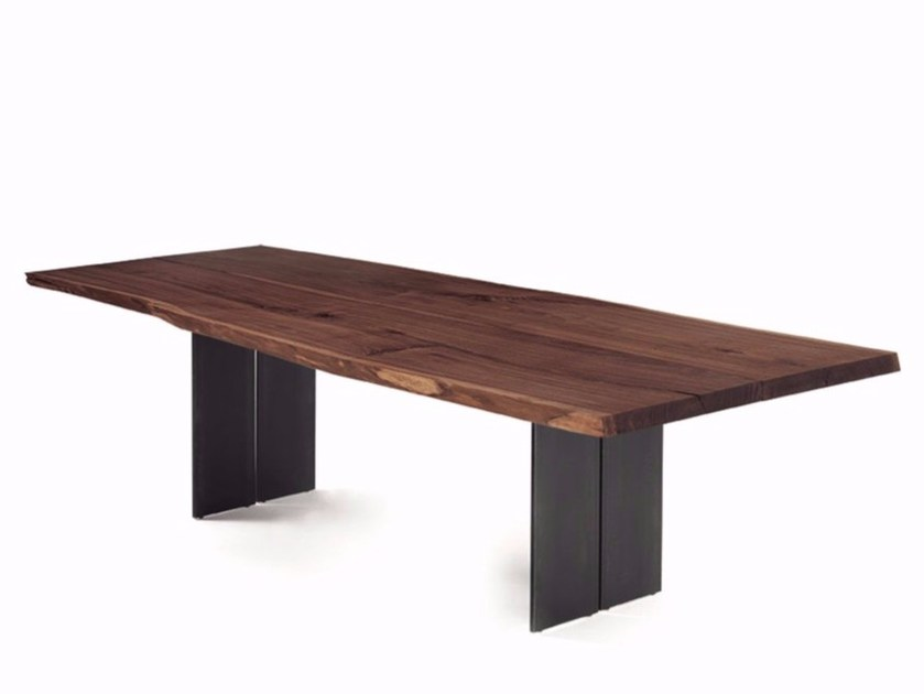 Rectangular solid wood table NATURA PLANK by Riva 1920